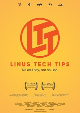 Linus Tech Tips Poster Metal Poster Linus Tech Tips Displate
