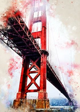 Golden Gate in Watercolor