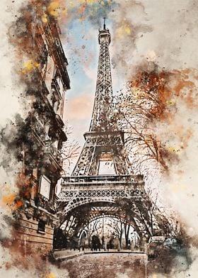 Paris in Watercolor