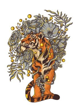 Tiger with mother nature