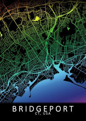 Bridgeport CT USA City Map