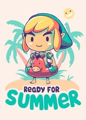 Link Zelda Summer Cute LoZ