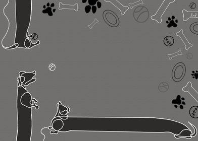Daschund Illustration 01