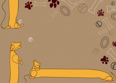 Dachshund Illustration 03