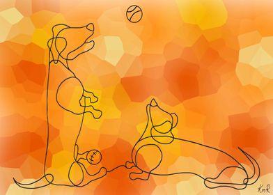 Dachshund Line Doodle