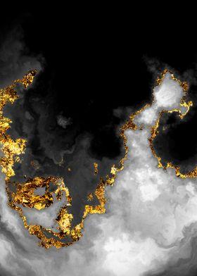 Gilded Grayscale Nebula