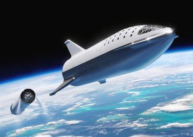 BFR Leaving Earth