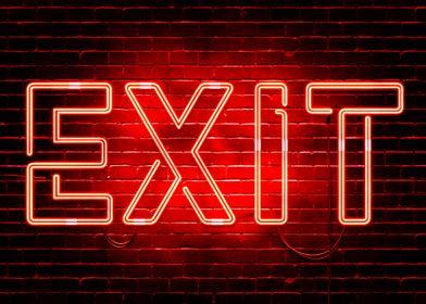 Neon Exit sign