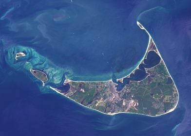 Nantucket Satellite Map