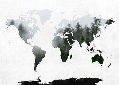 World Map Forest 2