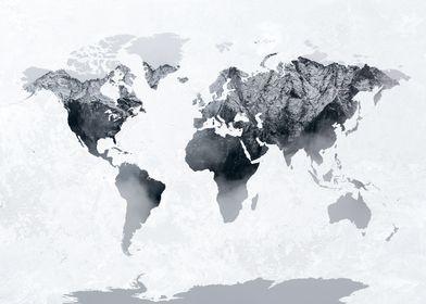 World Map Mountains 1