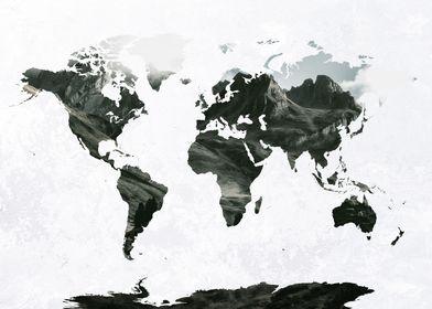 World Map Mountains 4