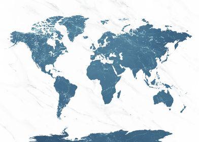 World Map Ocean 1