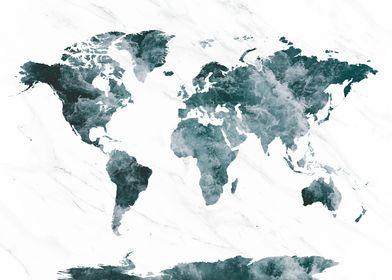 World Map Ocean 3
