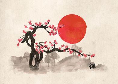 Sakura Blossom Landscape