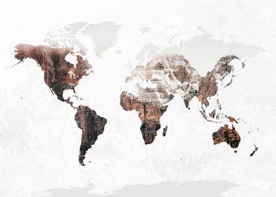 World Map Mountains 3