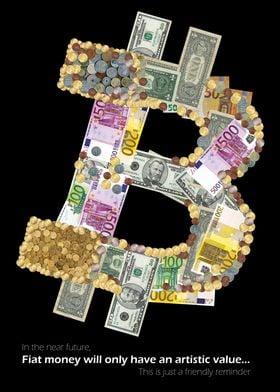 Bitcoin logo in FIAT