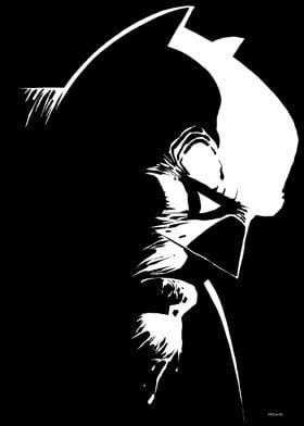 Black and White Bat