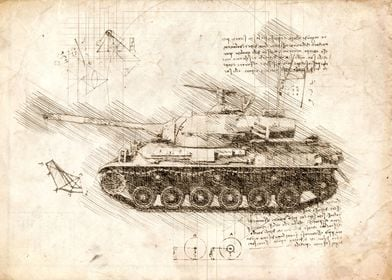 Military tank sketch