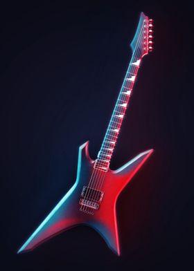 Neon Electric Guitar 6