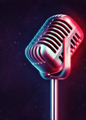 Neon Microphone 1