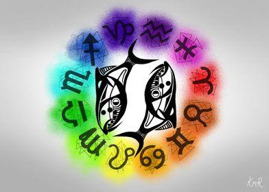Pisces Zodiac Sign Colour