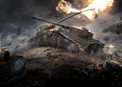 Close combat, IS vs. Tiger