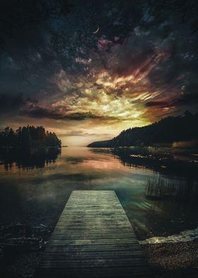Sunset At Bay Of Dreams