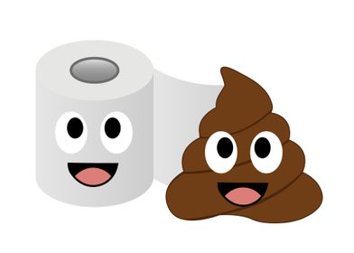 Poop and toilet tissue