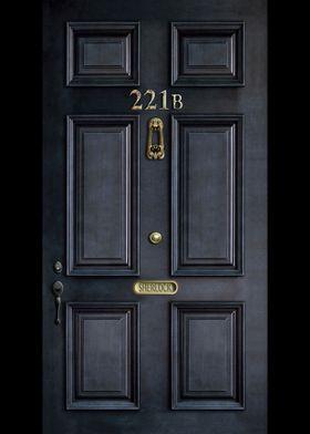 Haunted black door