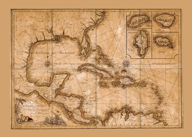 Caribbean Map 1792