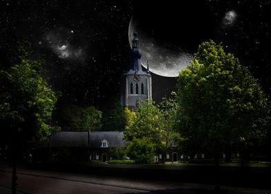 Church Aarschot night