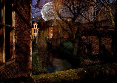 Begijnhof Leuven moon