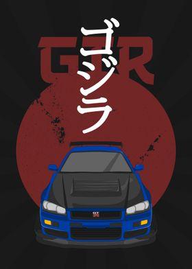"""GTR """"Godzilla"""" R34"""