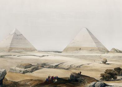 Pyramids of Giza 1849