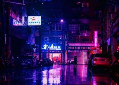 Rainy Empty Street