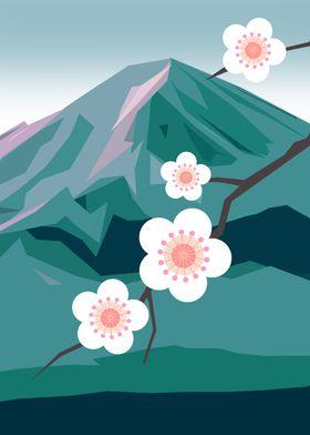 Cherry Blossom and Fuji