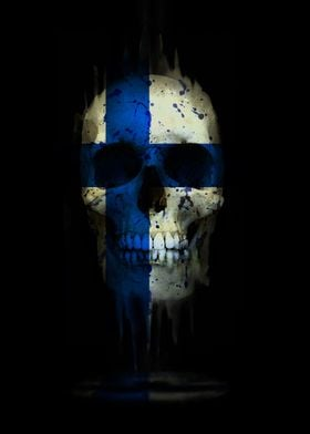 Finland Skull Flag