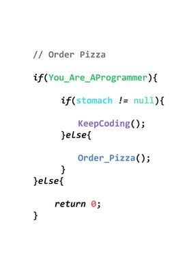 Order pizza c++