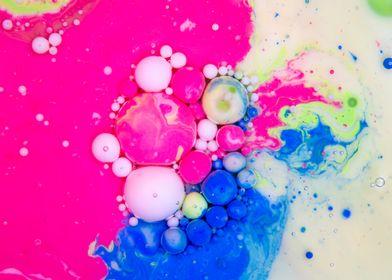 Bubbles Art Apple