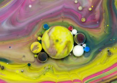Bubbles Art Sun