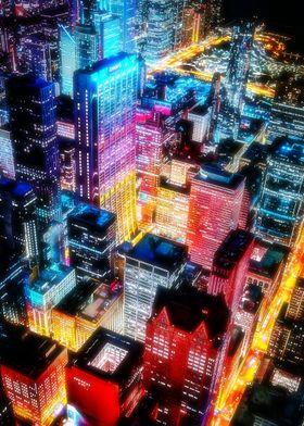 Neon City Night