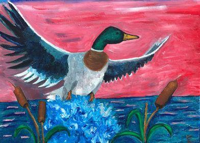 Mallard Taking Flight