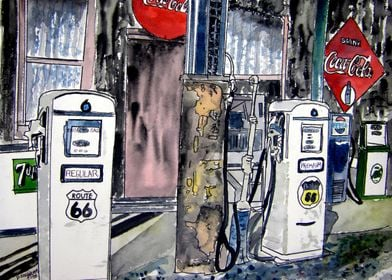 Route 66 gas station art