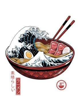 Great Ramen Wave White