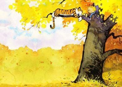 Calvin and Hobbes Nap