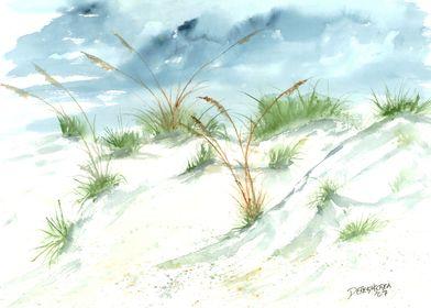 Sand Dunes Beach Art