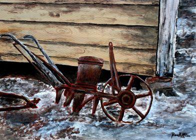 Vintage Antique Farm Plow