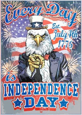 Independence Day USA Eagle