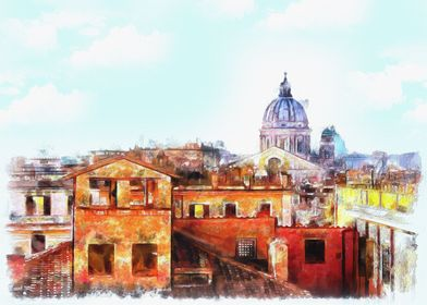 Rome under blue sky